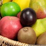 entrega de frutas no trabalho