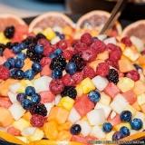 frutas cortadas para entrega